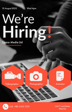 now hiring poster templates adobe spark