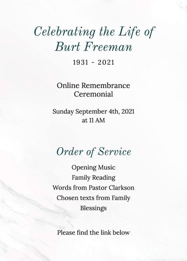 Free Funeral Program Templates  Adobe Spark