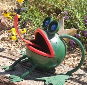 Frog prince, yard art