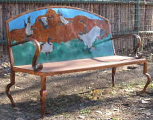 Wild Geese Bench, Steel