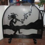 Kokopelli Fireplace Screen