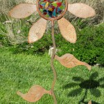 Ever-blooming flower, adobe dragon designs, metal art