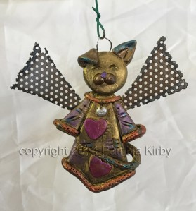 Polymer clay Christmas Angel