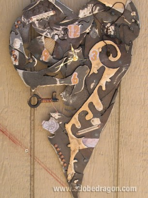 Scrap metal clock Adobe Dragon Design Studio