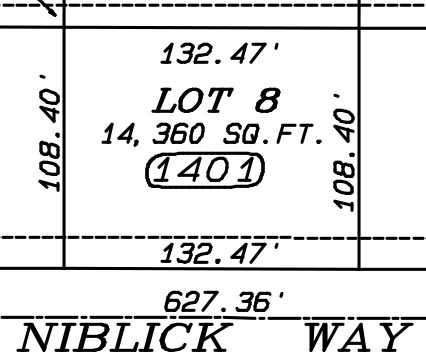Vacant lot at 1401 Niblick Way