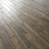 wood-look porcelain tile flooring