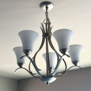 Keiran brushed nickel chandelier by Kichler