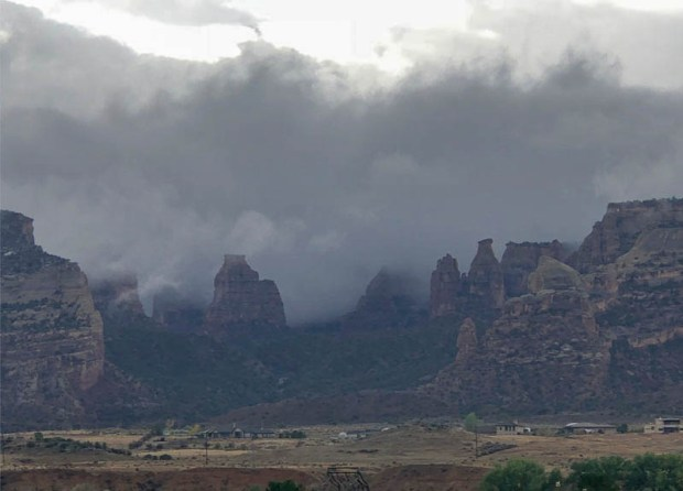 Cloudy Skies over Monument Valley