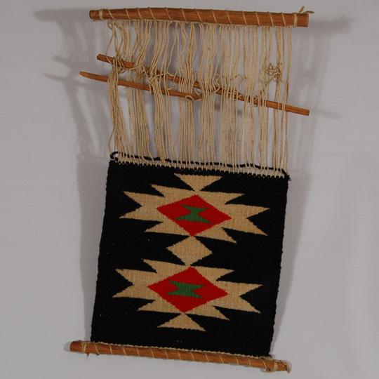 Din Navajo Germantown Small Sampler On A Loom SOLD