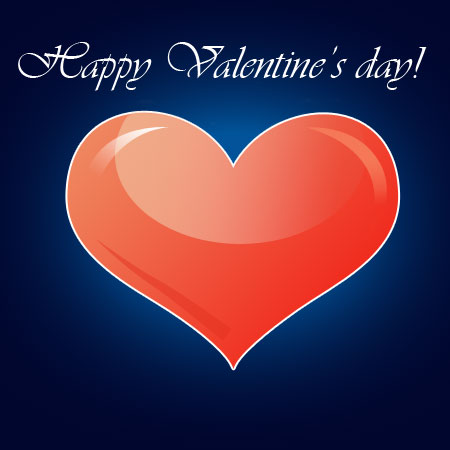 Create Valentine's Day greeting card in Photoshop CS