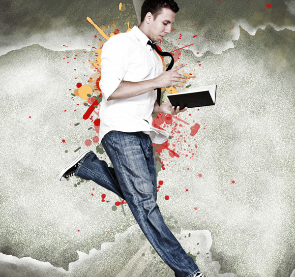 How to create a spattered photomontage in Adobe Photoshop CS4