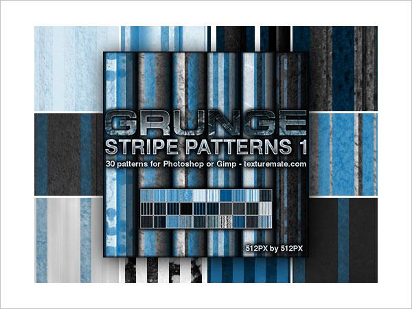 Grunge Stripes 1 Pattern Set