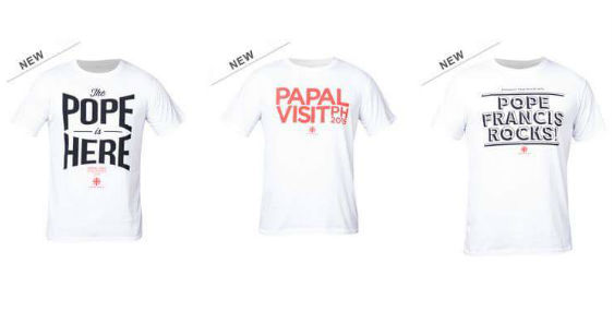 Caritas welcomes Pope Francis with shirts designed by Team Manila