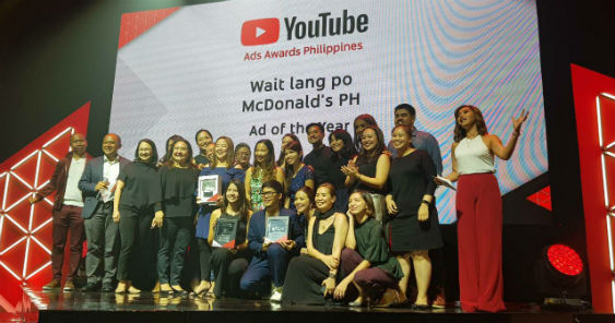 Inaugural YouTube Ads Awards Philippines announces winners, McDonald's Philippines wins first-ever Ad of the Year