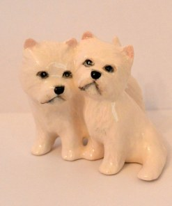 Beswick West Highland Terrier Dog Pair Front 1- Dog's Tale Collectibles