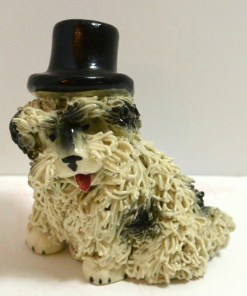Spaghetti Sheepdog in a Top Hat Front 121- Dog's Tale Collectibles