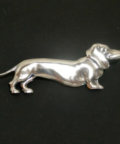 Sterling Silver Dachshund Dog Pin Front 12- Dog's Tale Collectibles