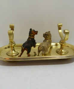 Cold Painted Bronze Pug and Terrier Dogs Back 232- Dog's Tale Collectibles