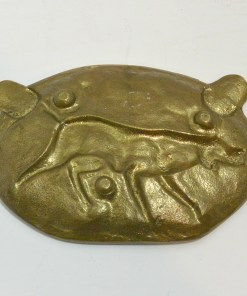 Hunting Dog Brass/Bronze Ashtray Back 323- Dog's Tale Collectibles