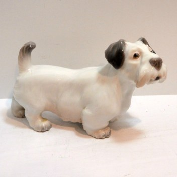 Dahl Jensen Sealyham Terrier Dog Side 1- Dog's Tale Collectibles
