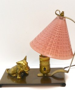 Vintage Brass and Glass Scottie Dog Side 652- Dog's Tale Collectibles