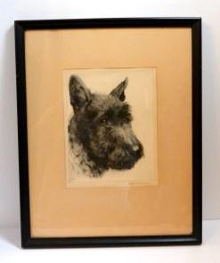 Scottish Terrier Dog Portrait Signed Kurt Meyer Front 11- Dog's Tale Collectibles