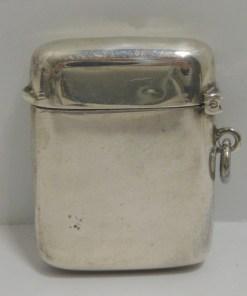 Silver Scottie Dog Vesta Match Safe Back 5655- Dog's Tale Collectibles