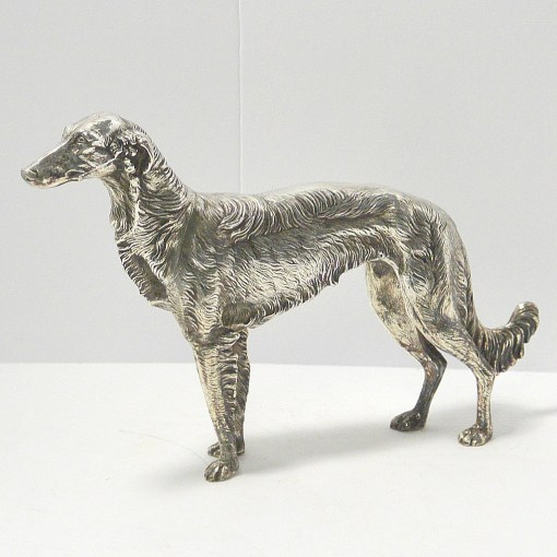 Silver Plate Borzoi Dog Side small 36- Dog's Tale Collectibles