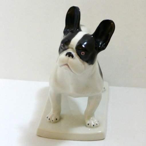 Heubach Boston Terrier Porcelain Figurine
