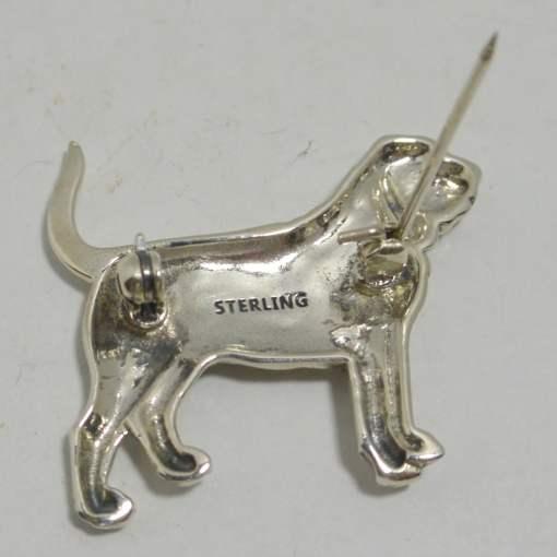 sterling silver bloodhound