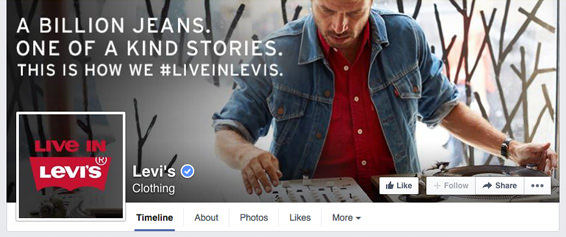 How to create a seamless facebook cover photo and profile picture levis fb business page timeline incorporating the profile picture with the cover photo accmission Choice Image