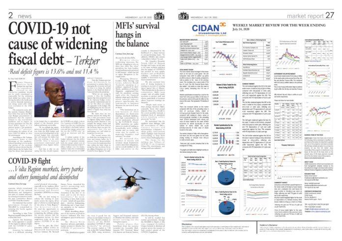 Newspaper Headlines: Wednesday, July 29, 2020 4