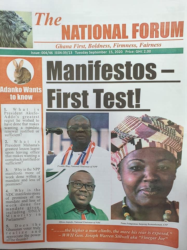 Newspaper Headlines: Tuesday, September 15, 2020. 17