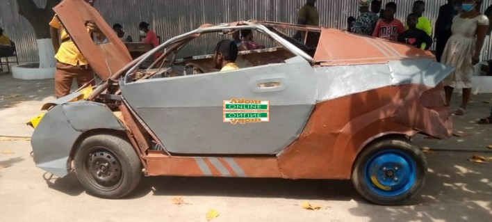 BECE candidate builds scrap metal car