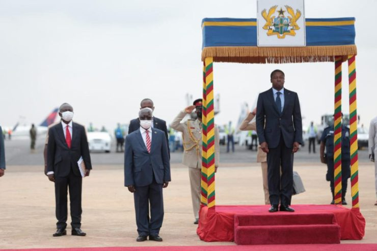 Heads Of State Arrive In Accra For ECOWAS Meeting. 13