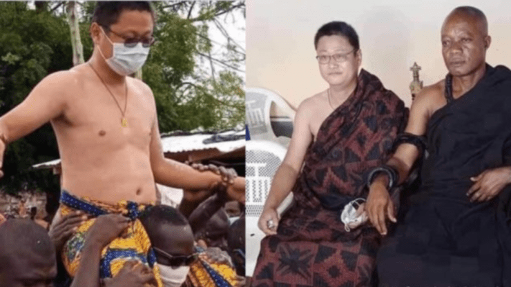 Chinese man enstooled chief at Kwahu Abetifi - Adomonline.com
