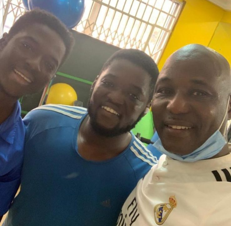 Kalsoume Sinare scatters internet with rare photo of hubby, sons 13