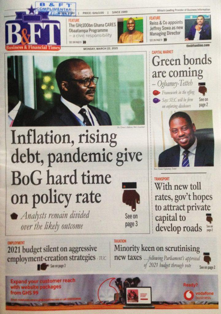 Newspaper Headlines: Monday, March 22, 2021 22