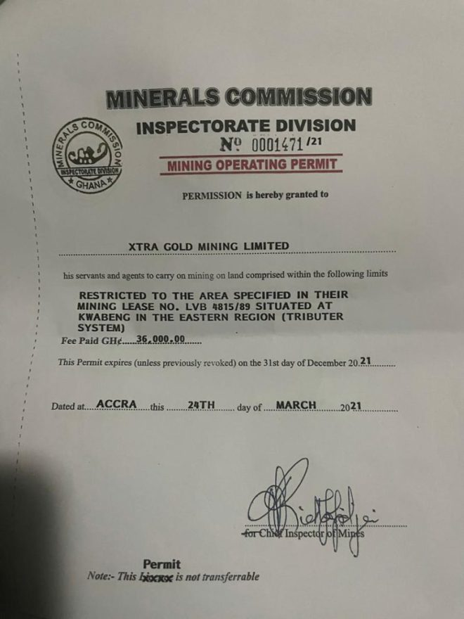 Xtra Gold listed on New York Stock Exchange can't be galamsey operator - Company's spokesperson