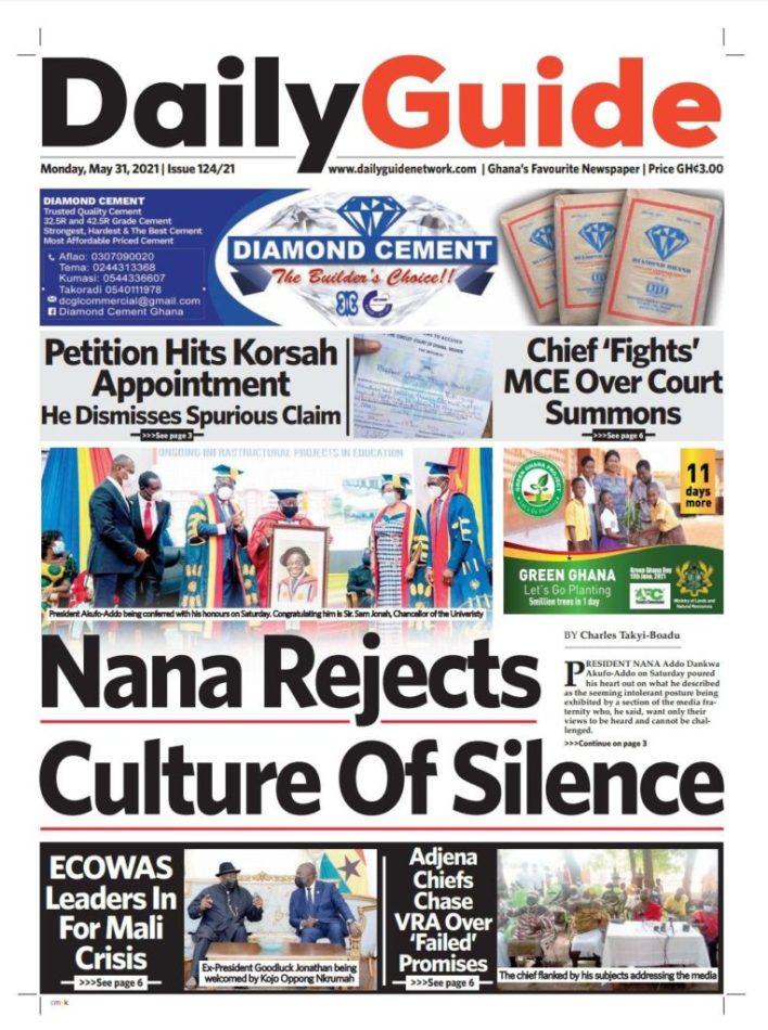 Newspaper Headlines: Monday, May 31, 2021 3