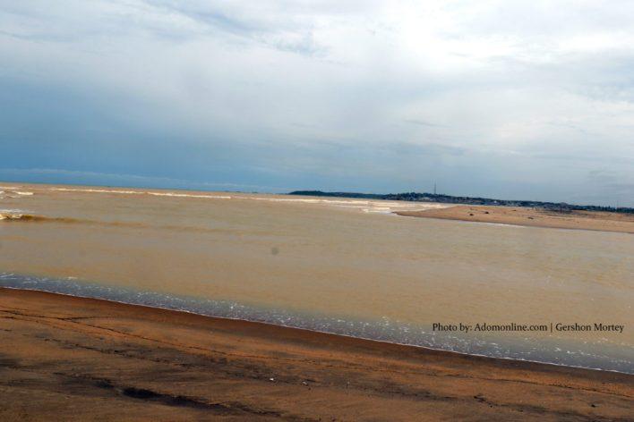 Galamsey: Where River Pra meets the sea at Shama; sea colour now brown (Exclusive Photos) 1