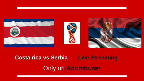 Costa rica vs Serbia Live Streaming logo