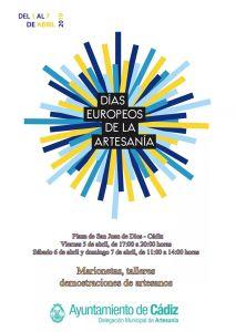 Días Europeos de La Artesanía Del 01 al 07 de Abril Cádiz adondevoyconmifamilia