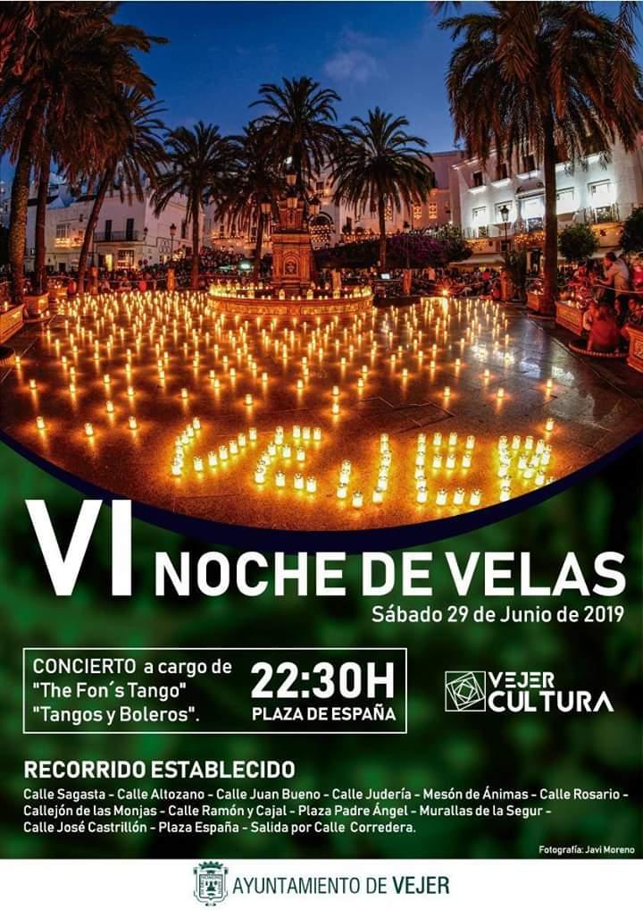 """🕯️VI NOCHE DE VELAS VEJER🕯️ Sábado 29 de Junio de 2019, """"Noche de Velas Vejer"""" (VEJER)"""