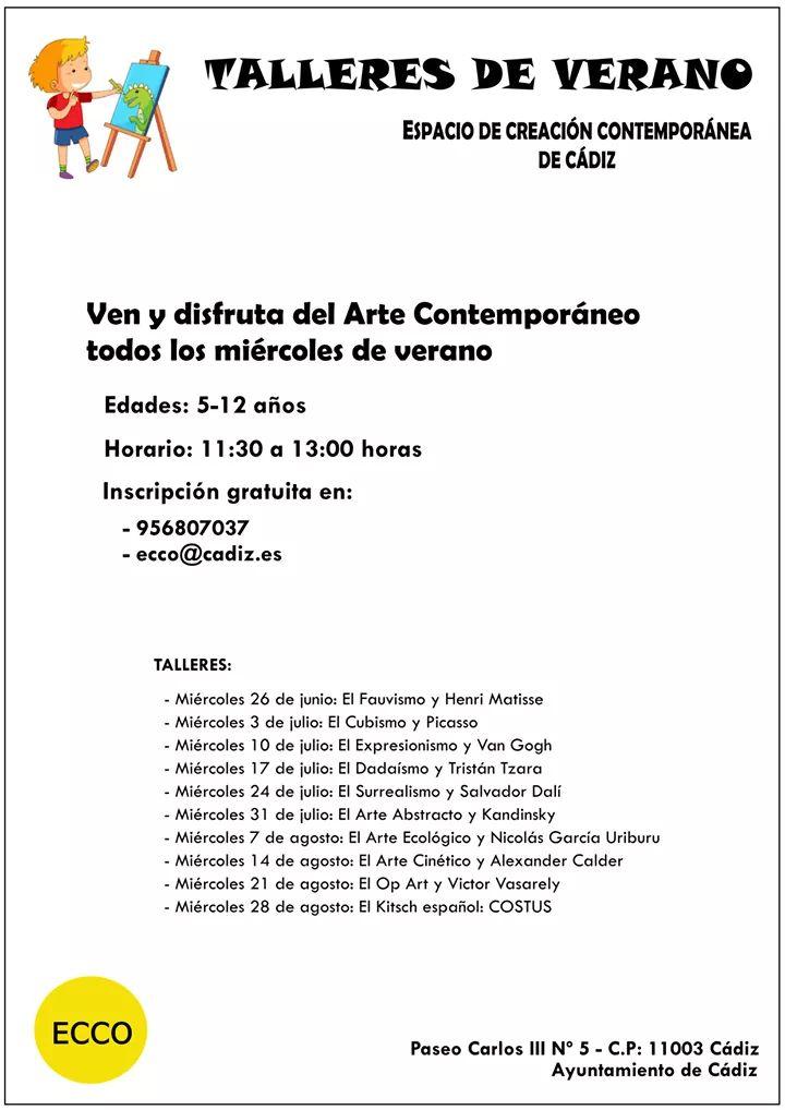 Talleres de Verano ECCO Cádiz niños Adondevoyconmifamilia