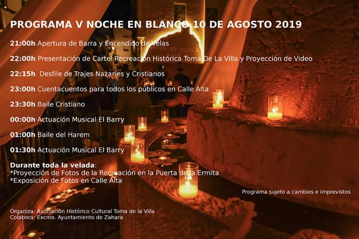 V Noche En Blanco 10 Agosto 2019 Zahara de La Sierra