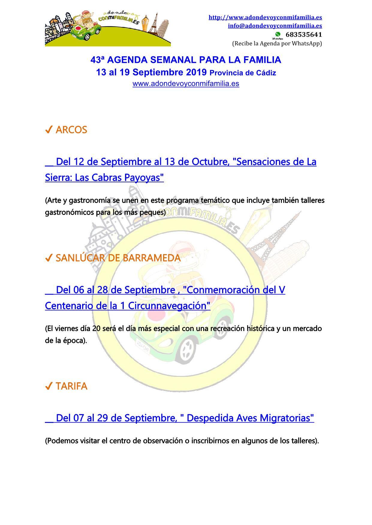 043 Agenda semanal familiar 13 al 19 septiembre 2019