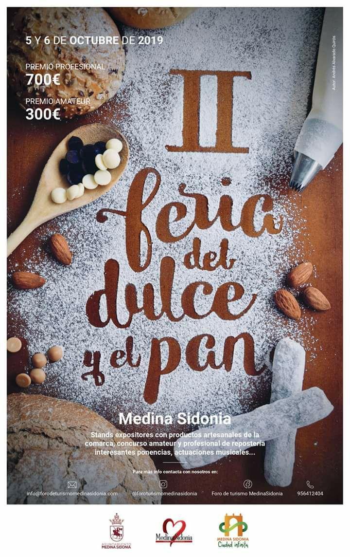 II Feria del Dulce y el Pan (Medina Sidonia) el 05 al 06 de Octubre de 2019
