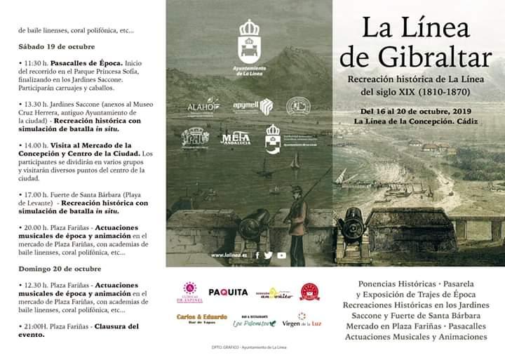 """ECREACIÓN HISTÓRICA """"LA LINEA DE GIBRALTAR"""" Familia con Niños (LA LÍNEA) Del 16 al 20 de Octubre de 2019"""