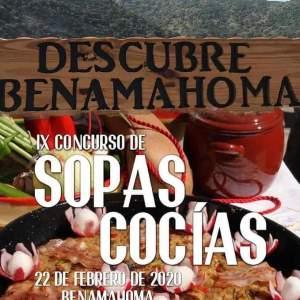 IX CONCURSO DE SOPAS COCIDAS Familia con Niños (BENAMAHOMA) Sábado 22 de Febrero de 2020